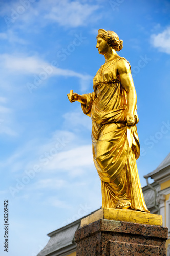 Statue on the Grand Cascade of Peterhof Palace