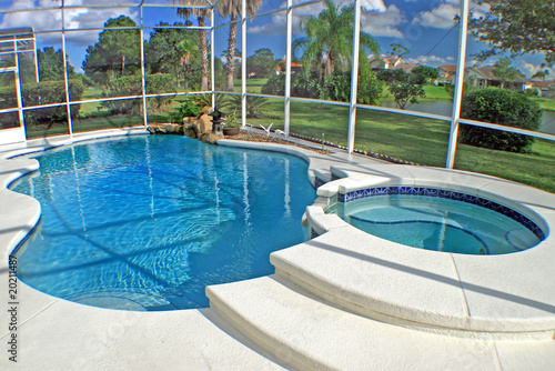 canvas print picture Swimming Pool and Spa
