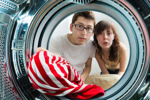 From inside the washing machine view.