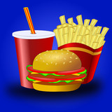 Fast food vector poster