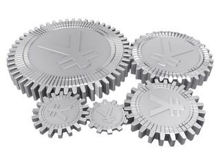 Five silver yuan gears