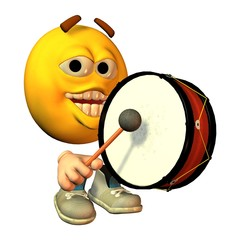 Smilie mit Trommel