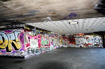 Painted graffiti on wall