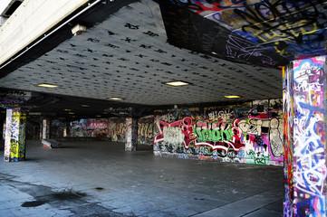 Messy Graffiti Wall Background