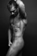 Leinwanddruck Bild - Muscled male model