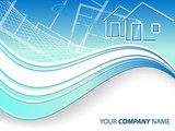 header for real estate or construction company.Eps10 poster