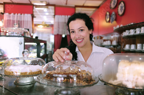 owner of a small business/ cafe/ cake store