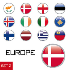 Europa Flaggenset 2