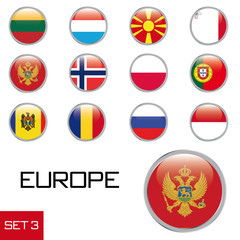 Europa Flaggenset 3