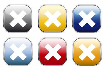 Button Kreuz Kollektion Farbig