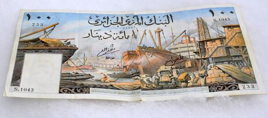 vieux billet de banque d'algerie