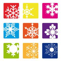 Schneeflocken abstrakt