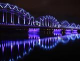 railway bridge in Riga poster