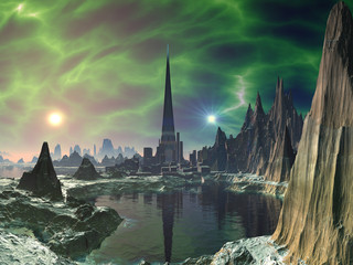 Euphoria Tower on Planet Electra