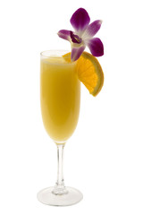 Mimosa Cocktail on a white background