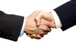 A Business Handshake with White Background