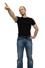 man point gesture