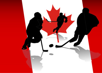 vector ice hockey players