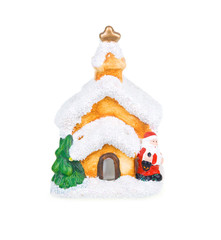 Christmas Decoration (House) Isolated on White