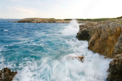 Raged sea on island krk