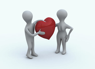 Valentine couple avec coeur