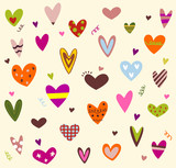 Fototapety Hearts background