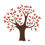 Vector love tree