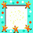 circus clown frame