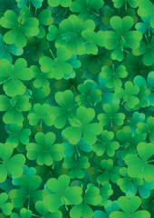 Find one Happy clover for St. Patrick`s day, vector illustration