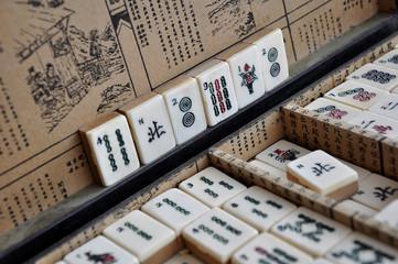 Boite de jeu de Mahjong ou jeu des quatre vents
