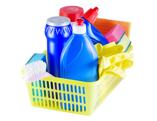 cleaners in the basket