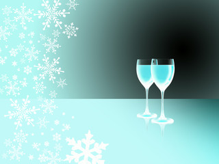 Weintrinken im Winter