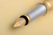 Gold fountain pen closeup