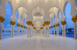 Sheikh Zayed Mosque in Abu Dhabi United Arab Emirates