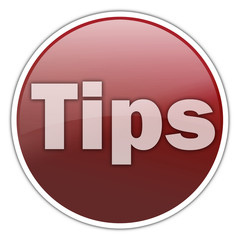 "Round Sticker with ""Tips"" wording"