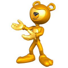 Mini Gold Guy Bear