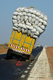 overloaded truck down in senegal