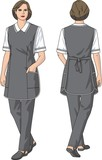The woman in an apron poster