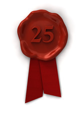 Siegel 25 rot