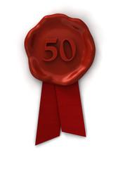Siegel 50 rot