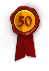 Siegel, seal, 50 gold