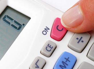 Pocket Calculator Close-up - ON - Taschenrechner Makro