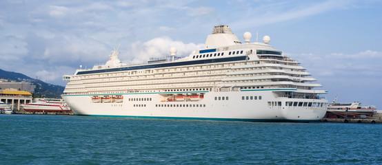 A huge oceanic liner