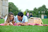Couple at a picnic