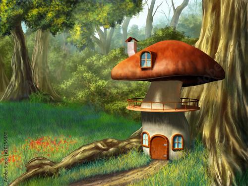 Fototapety, obrazy : Mushroom house