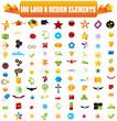 100 Logo and Design Elements - Сто логотипов и элементов дизайна (Вектор)