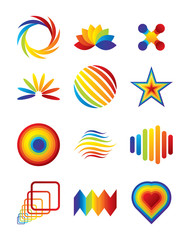 Vector colorful symbols for your business artwork