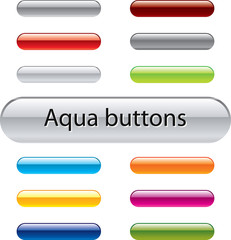 Aqua vector buttons for web design