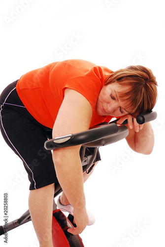 Woman exhausted after workout