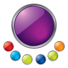 Colorful vector orbs